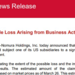 More on Nomura shares cratering - firm's losses related to prime brokerage unit